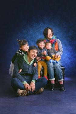家族写真 自然