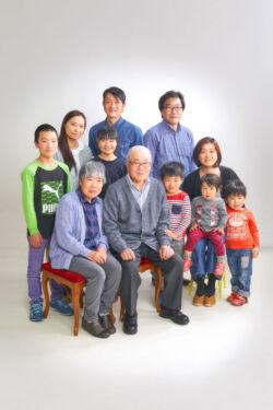 家族写真 大家族
